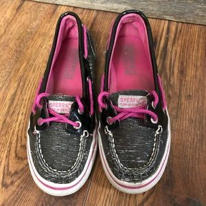 Sperry Top Sider Size 3 Youth Girls Deck shoes